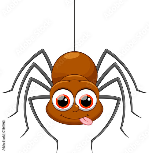 Fototapeta Cute spider cartoon