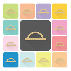 Ruler Icon color set vector illustration