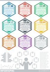 Infographic elements (flat design)