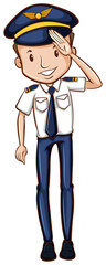 A sketch of a happy pilot