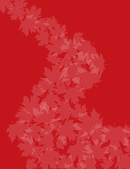 Red Swirling leaves