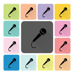 Microphone Icon color set vector illustration.