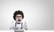 Man typist