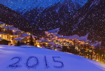 2015 on snow at mountains - Solden Austria