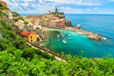 Fototapety Vernazza village on the Cinque Terre coast of Italy,Europe