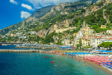 The famous riviera of Amalfi,Campania,Italy,Europe
