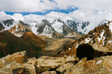 Beautiful Tien shan peaks and mountains near Almaty.