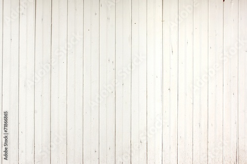 Foto op Canvas Hout White Wood Planks Panel
