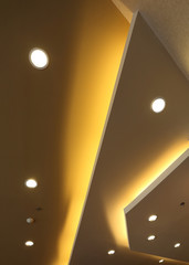 interior of light on ceiling modern design