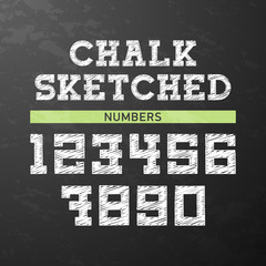 Chalk sketched numbers