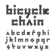Bicycle chain alphabet