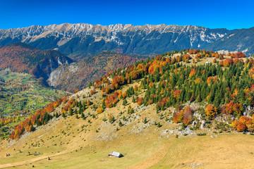 Zarnesti gorge and Piatra Craiului mountains,Romania