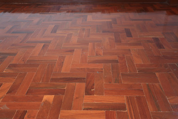 parquet wood of floor design in house
