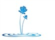 water lily , Buddha, Eco friendly business logo design - 71867689
