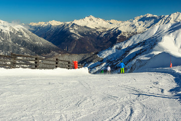Beautiful high mountains and ski slopes,Les Sybelles,France