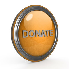 Donate circular icon on white background