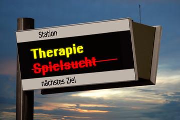Anzeigetafel 4 - Spielsuchttherapie