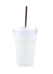 ice milk smoothies isolated