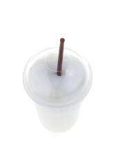 ice milk smoothies isolated