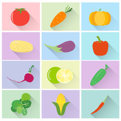 Vegetable vector set