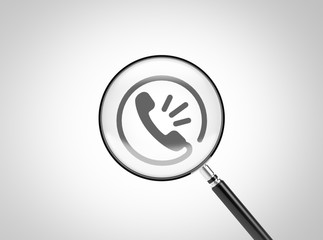 Magnifying Glass Contact Icon