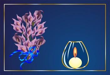 kompozycja z kwiatami,