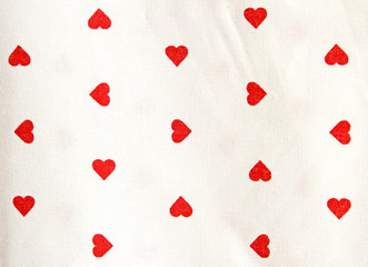 tablecloths with red heart shape