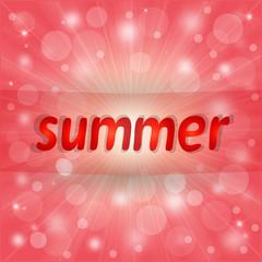 Nice pink summer background