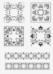Set of fames and dividers. Vector illustration