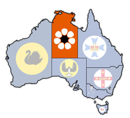 northern territory on map of australia