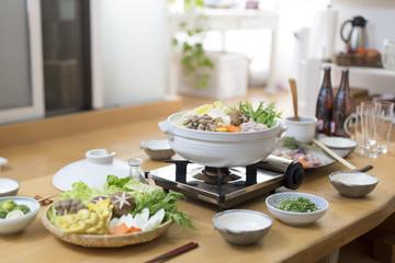 自宅の鍋料理