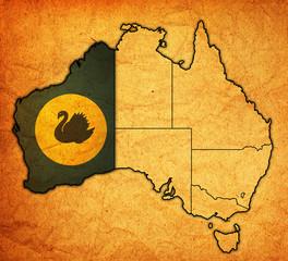 western australia on map of australia