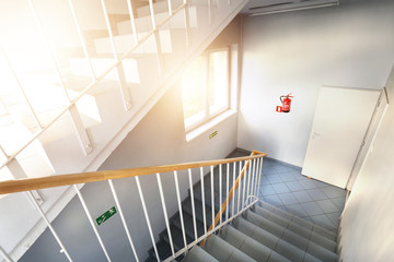 Emergency exit and stairs