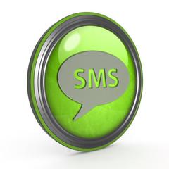 sms circular icon on white background