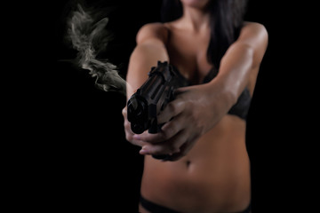 girl shot with weapons