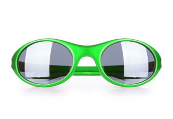 sport sunglasses with  on white background