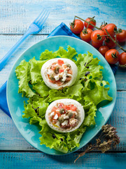 mozzarella stuffed with capers and tomatoes
