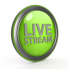 Live stream circular icon on white background
