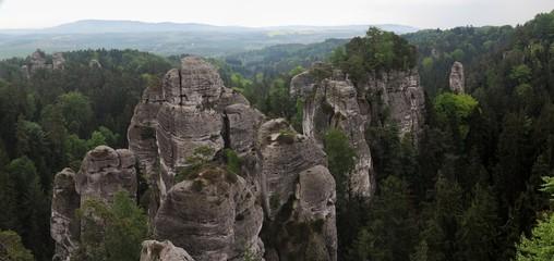 Rock formation in Cesky raj near castle Hruba skala