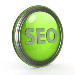 Seo circular icon on white background