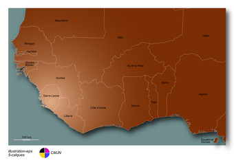 afrique de l'ouest brun