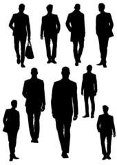 Handsome young men. Businessman. Vector illustration