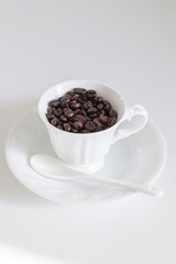Coffee Beans in porcelain cup