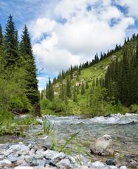 Kaindy Valley in Kazakhstan