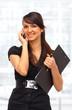 Вeautiful business woman on the phone.