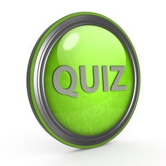 Quiz circular icon on white background
