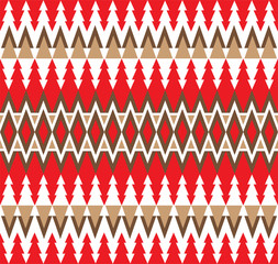 Geometric triangle pattern for Christmas