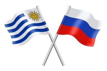 Flags: Uruguay and Russia