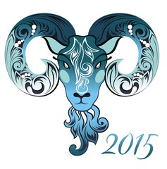 Ornamental and decorative sheep. Symbol of 2015