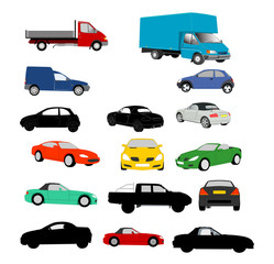 Lots of vehicles illustrations